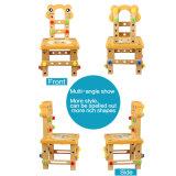 Juguetes de madera de trabajo de los niños de la construcción de la silla del tornillo de la actividad de madera del bloque