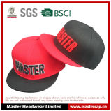 algodão do bordado 3D/chapéu Snapback do poliéster