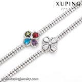 Armband van de Juwelen van de Parel van de manier de Eenvoudige in rhodium-Geplateerd
