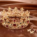 Crown Wedding Hair Accessories花嫁の王冠の花の花嫁の毛の宝石類の水晶ティアラの王女の毛の宝石類(EC15)