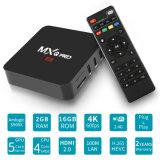 Mxq PROAndroid7.1.2 Amlogics905X 2GB RAM/16GB ROM-Fernsehapparat-Kasten voll einprogrammiert Kodi 17.3 Kasten des Satellitenempfänger-IPTV mit WiFi, 4K 1080P HD