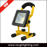 10W/20W/30W/40W/50W LED de batería recargable del portátil de luz de emergencia con adaptador de carga