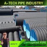 Yard-Entwässerung-Lösung HDPE Abflussrohr-doppel-wandiges gewölbtes Rohr