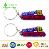 Cheap卸し売りCustom PVC Rubber第2 Color Filled Resin Car Shaped Advertizing Keychain