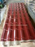 1045mm, 840mm Color PPGI galvanizado recubierto de hoja de impermeabilización de cubiertas de acero corrugado