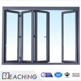 Алюминиевый корпус черного цвета окна Bi-Folding складные окна для проекта
