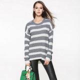 Fashion Acrylic Knitted Long女性袖のプルオーバーのセーター(YKY2096)