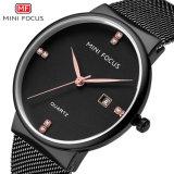 Mini Focus OEM Japón Movt reloj de cuarzo para hombres