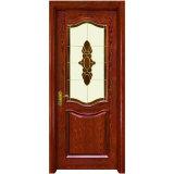 Porta In Legno Massello In Vetro Mosaico Interno Classico (Yh-6008)