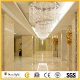 自然な金くもの大理石の磨かれたタイル、平板、カウンタートップ