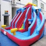 Portable inflables para niños tobogán acuático con piscina de juguetes inflables