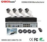sorveglianza esterna della macchina fotografica del IP di visione notturna 4PCS 5MP HD del sistema P2p IR del CCTV della videocamera di sicurezza di 4CH 5MP Poe