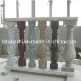 La pierre naturelle granit rouge Balustrade / Baluster avec main courante de la main courante