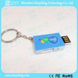 Movimentação plástica do flash do USB da forma do livro com logotipo (ZYF1816)