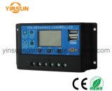 10A 12V/24V do controlador de carga solar