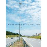 Alta iluminación de acero galvanizada poste de la torre del mástil de poste