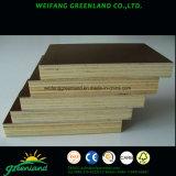 El uso de encofrados de madera contrachapada de larga vida con el logotipo para la construcción