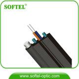 Cable óptico al aire libre de fibra del alambre de gota del G. 657A1 LSZH FTTH