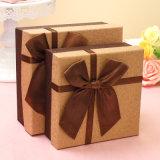 Reizender beweglicher quadratischer Geschenk-Kasten mit Bowknot für Hochzeits-und Geburtstag-Anwendung, Süßigkeit-Geschenk-Kasten, Apple-Kasten