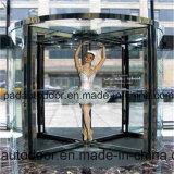 良質の普及した創造的なデザインガラス回転ドア