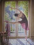 Впечатляющая Леди Картины маслом балет танцовщица для монтажа на стену оформление