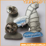 Butterfly Fitting (YB-p-008)를 가진 Customized 싼 Logo Metal Badge Pin