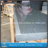 Schwarzer/grauer/gelber Granit-/Marmortreppen-Schritt mit Sandblasted Gleitschutz