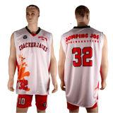 Pullover bilaterale delle uniformi di pallacanestro del doppio tessuto di Healong
