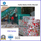 Resíduos de papel Semiautomático Hidráulica horizontal a enfardadeira (HSA4-6)
