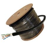 Outdoor Cat5e UTP 4pair 24AWG Câble LAN Protection UV