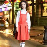 L'alto uniforme scolastico progetta il campione di Gress del fornitore della ragazza