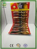 ペーパーCard+PVCハングのパッキングのGloden Yewllowハンドル