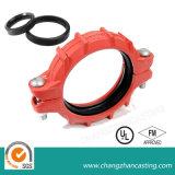 Accoppiamenti Grooved del ferro duttile flessibile rosso del rivestimento