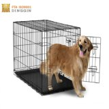 Black Métal couché Eletro Dog crate
