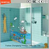l'impression de Silkscreen de peinture de Digitals d'image de dessin animé de 3-19mm/configuration acide de sûreté gravure à l'eau forte a gâché/verre trempée pour la douche/partition de salle de bains avec SGCC/Ce&CCC&ISO