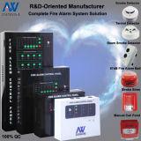 precio convencional del panel de control la alarma de incendio del sistema de dos hilos