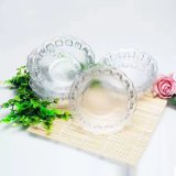 Vaisselle appuyée de haute qualité Sdy-J00185 de bol de sucrerie de fruit de cuvette en verre