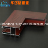 Fabricación de aluminio del perfil de la ventana de madera estándar ampliamente utilizada del grano
