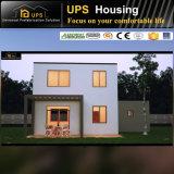 Chambres préfabriquées isolées par coût bas modulaire vert avec des équipements
