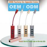 Eje de los accesos USB3.0 del USB 3.1 a tres con Ethernet del adaptador el 100m en de oro para MacBook