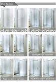 Cerco do chuveiro do vidro de deslizamento com painel fixo