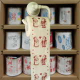 Santa Claus toallitas de aseo aseo novedad papel impreso de tejido de cocina