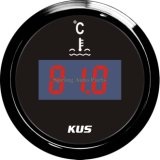 52mm populares medidor de temperatura de columna de agua digital con sensor de temperatura