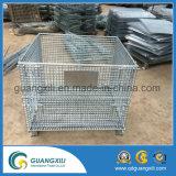 Mémoire d'entrepôt pliant le conteneur empilable de maille de fil d'acier