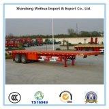 China 20FT/40FT Flatbed Aanhangwagen van de Container met Assen Fuwa