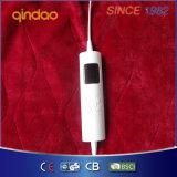 Coperta eccessiva elettrica del panno morbido molle chiave di funzionamento con il termostato di temperatura