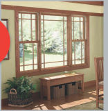 La mouche amovible examine le guichet arrêté par bois plaqué en aluminium, double guichet en aluminium arrêté de qualité pour résidentiel