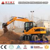 12t 0.5cbm ковш экскаватора колес для продажи, строительные машины на заводе экскаватора