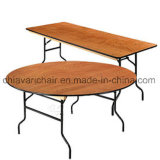 Banquet de contreplaqué tables pliantes ronde