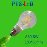 A60 2W 4W 6W 8W 210-900lm Dimmable LEDのフィラメントの球根